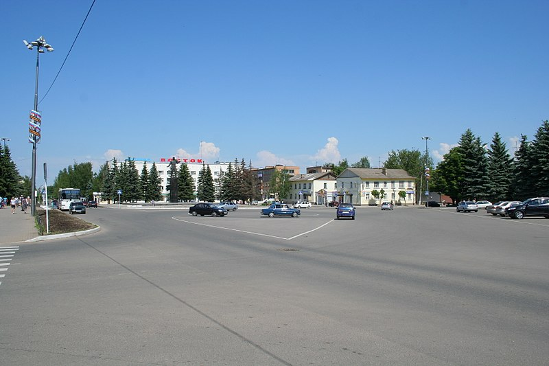 Gagarin town - Central square